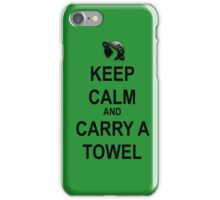 Keep Calm and Carry a Towel iPhone Case/Skin