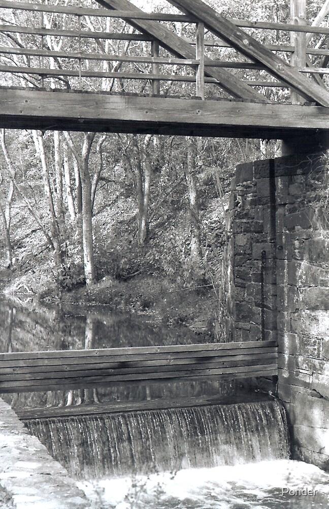Bridge Over Canal Lock by Ponder