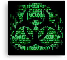 Binary Biohazard Symbol (Green) Canvas Print