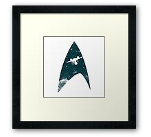Space the final frontier Framed Print