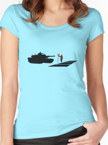 Stop all War Women's Fitted Scoop T-Shirt