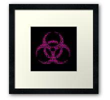 Binary Biohazard (Pink) Framed Print