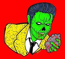 Zombie Elvis by gjnilespop
