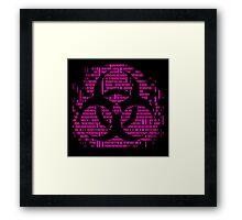 Binary Biohazard Symbol (Pink) Framed Print