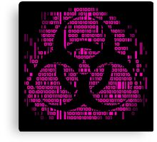 Binary Biohazard Symbol (Pink) Canvas Print