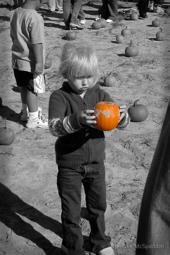 """Hey! this pumpkins to small."" by Heather McSpadden"