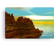 Sunrise on the Painted Cliffs Canvas Print
