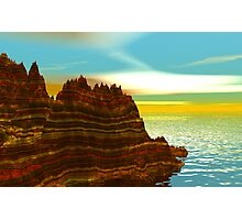 Sunrise on the Painted Cliffs Photographic Print