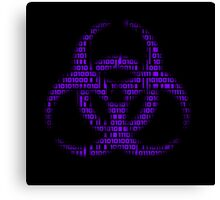 Binary Biohazard (Purple) Canvas Print