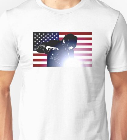 Welding: Welder & American Flag Unisex T-Shirt