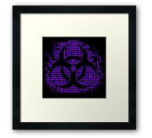 Binary Biohazard Symbol (Purple) Framed Print