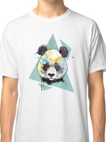 Geometric Watercolor Panda Bear Classic T-Shirt