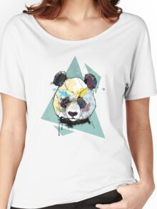 Geometric Watercolor Panda Bear Women's Relaxed Fit T-Shirt
