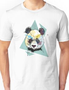 Geometric Watercolor Panda Bear Unisex T-Shirt