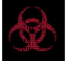 Binary Biohazard (Red) Photographic Print