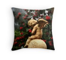 Cupid and Mars in the mist Throw Pillow