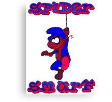 Spider Smurf Canvas Print