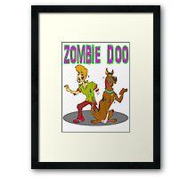 Zombie Scooby Doo Framed Print
