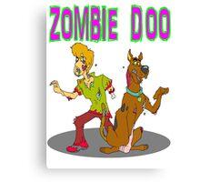 Zombie Scooby Doo Canvas Print