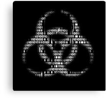 Binary Biohazard (White) Canvas Print