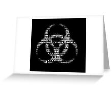 Binary Biohazard (White) Greeting Card
