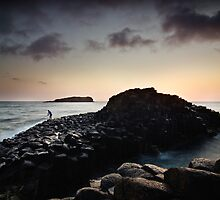 Rock Fishing at Fingal Head by Brent Pearson