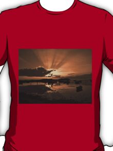Boats in an amazing sunset T-Shirt