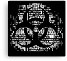 Binary Biohazard Symbol (White) Canvas Print