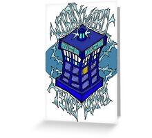 Wibbly Wobbly Timey Wimey Greeting Card
