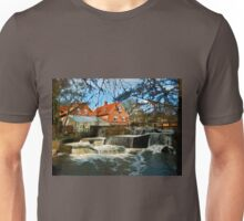Beautiful Waterfall Country Landscape Denmark Unisex T-Shirt