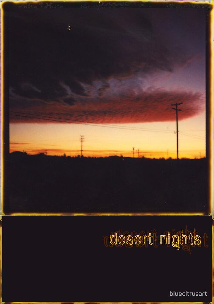 desert sunset by bluecitrusart