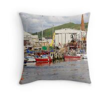 Girvan Harbour Throw Pillow