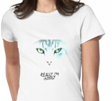Really I'm cuddly  Womens Fitted T-Shirt