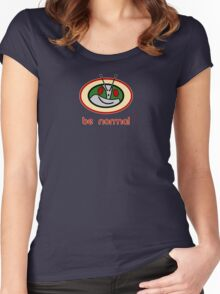 Be Normal: Common Rider Women's Fitted Scoop T-Shirt