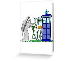 Don't Blink Tardis Greeting Card