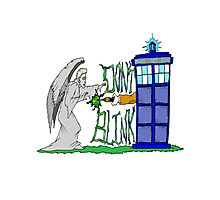 Don't Blink Tardis Photographic Print