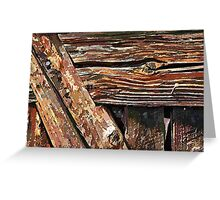 Aged old wood background Greeting Card