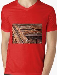 Aged old wood background Mens V-Neck T-Shirt