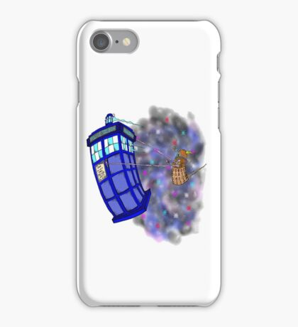 Dalek hitching a ride on the Tardis iPhone Case/Skin