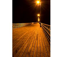 Shorncliffe Pier at Night Photographic Print