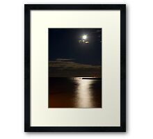 Shorncliffe by Moonlight Framed Print