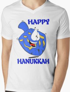 Happy Hanukkah Mens V-Neck T-Shirt