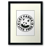 Panda reborn logo Framed Print