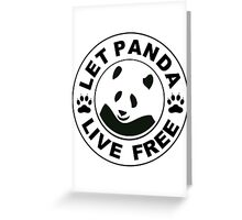 Panda reborn logo Greeting Card