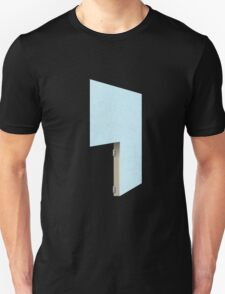 Glitch Original Homes wallpaper divider stucco lightblue T-Shirt