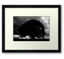 Mt Mee Sunset Silhouette Framed Print