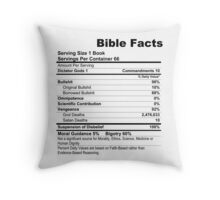 Bible Facts Throw Pillow