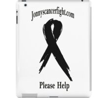Jonnyscancerfight.com Black Letters iPad Case/Skin