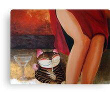 Catmasutra - Lychee Martini Canvas Print