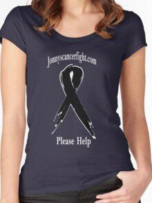 jonnyscancerfight.com white letters Women's Fitted Scoop T-Shirt